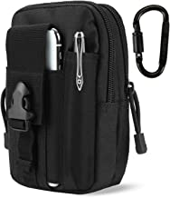 DOUN Outdoor Tactical Waist Pouch EDC Molle Security Purse Belt Waist Bag Phone Carrying Case for iPhone 8 Plus Galaxy Note 9 S9 Or Less Than 6.2 inches Smartphone - Black
