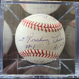 Rare Stat Bob Bobby Doerr Autographed Signed Memorabilia HOF Rawlings PSA/DNA Baseball Red Sox Auto