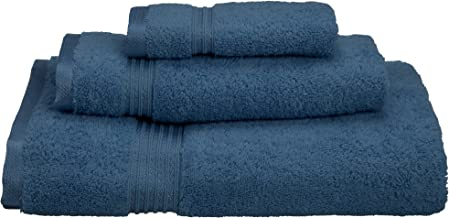 Superior 100% Long Staple Combed Cotton 3 Piece Bath Towel Set, Sapphire