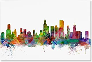 Chicago Illinois Skyline by Michael Tompsett, 16x24-Inch Can