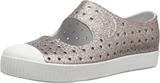 native Kids Bling Glitter Juniper Water Proof Shoes Metal Bling/Shell White 2 Medium US Little Kid