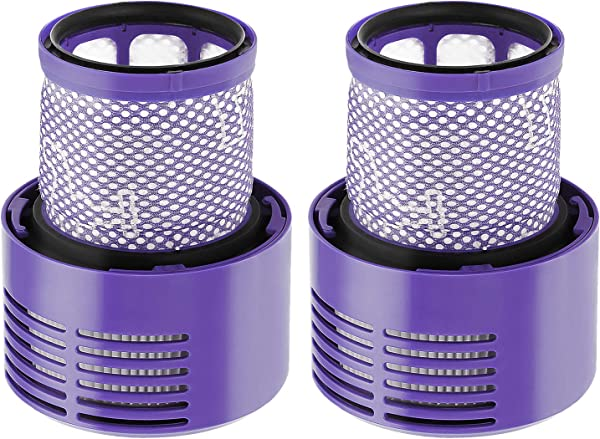 Isinlive 2 Pack Vacuum Filter Replacement Compatible With Dyson Cyclone V10 Absolute Animal Motorhead Total Clean Replaces Part 969082 01