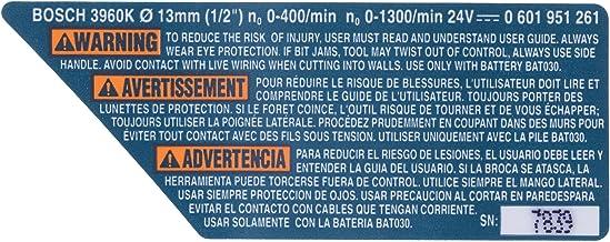Bosch Parts 2610998406 Warning Label