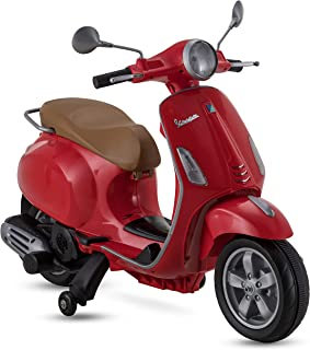 Kid Trax Vespa Scooter, 6V Ride-On Toy in Red