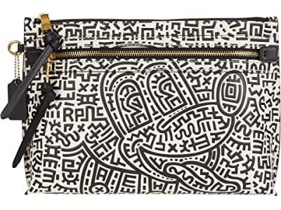 COACH Disney X Keith Haring Academy Pouch in Mickey Print