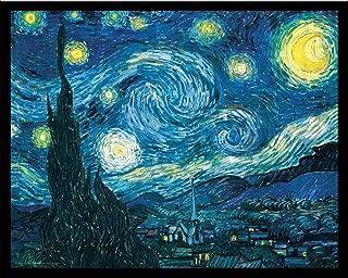 Culturenik Vincent Van Gogh Starry Night Night Decorative Fine Art Poster Print, X-Framed 16x20