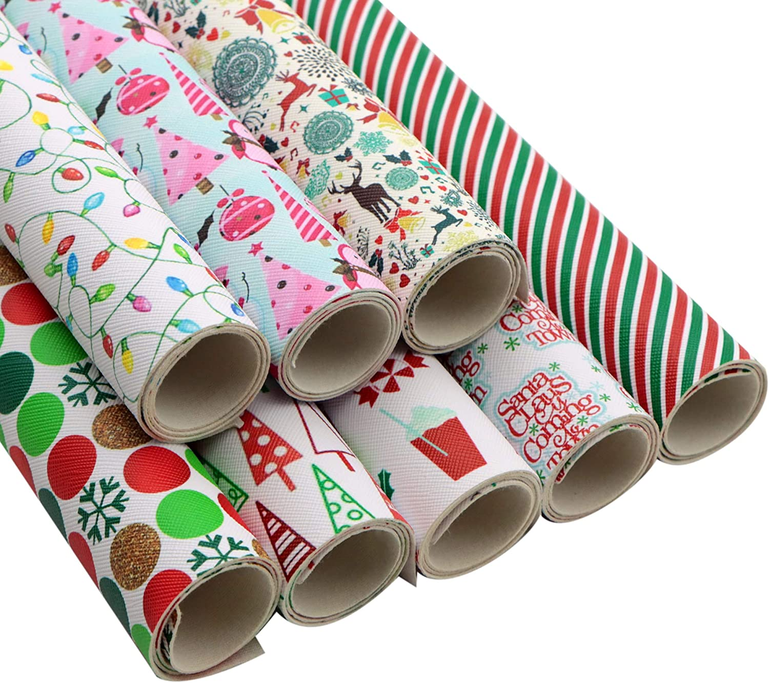 Max 67% OFF David Angie Christmas Theme Printed Synthetic Sheets Leather 8 25% OFF