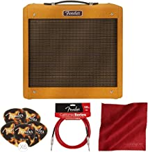 Fender Pro Junior IV 15 Watt Electric Guitar Amplifier with Instrument Cable & Picks Accessory Bundle