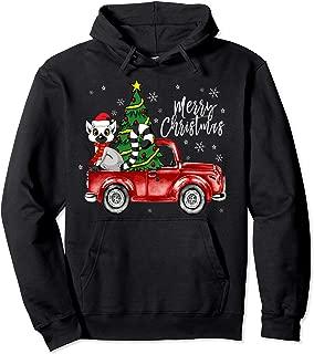 Cute Lemur Truck Christmas Costume Funny Lemur Lover Gift Pullover Hoodie