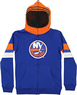 Reebok New York Islanders NHL Youth Goalie Mask Full Zip Fleece Hoodie