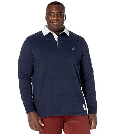 Nautica Big & Tall Big Tall Long Sleeve Polo (Navy) Men