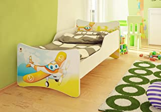 BEST FOR Kids Children s Bed With MATTRESS T V CERTIFIED SUPER SELECTION SIZES MANY DESIGNS  80x180  Airplane