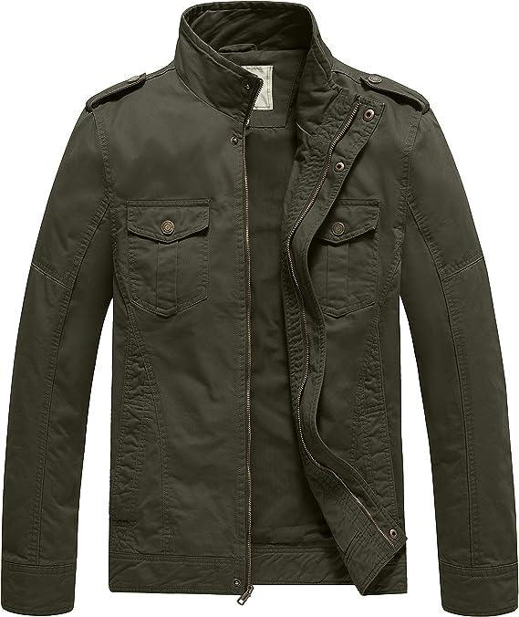 WenVen Men's Casual Military Jacket