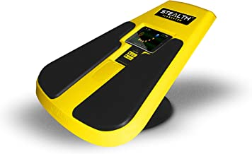 STEALTH Plankster Core Trainer - Dynamic Ab Plank Workout, Interactive Fitness Board Powered by Gameplay Technology for a Healthy Back and Strong Core (Fly Yellow)