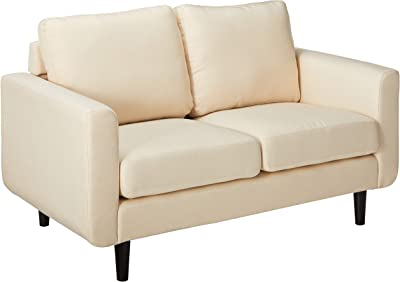 Admirable Amazon Com Natural Greige Leather Loveseat In Dove Gray Alphanode Cool Chair Designs And Ideas Alphanodeonline