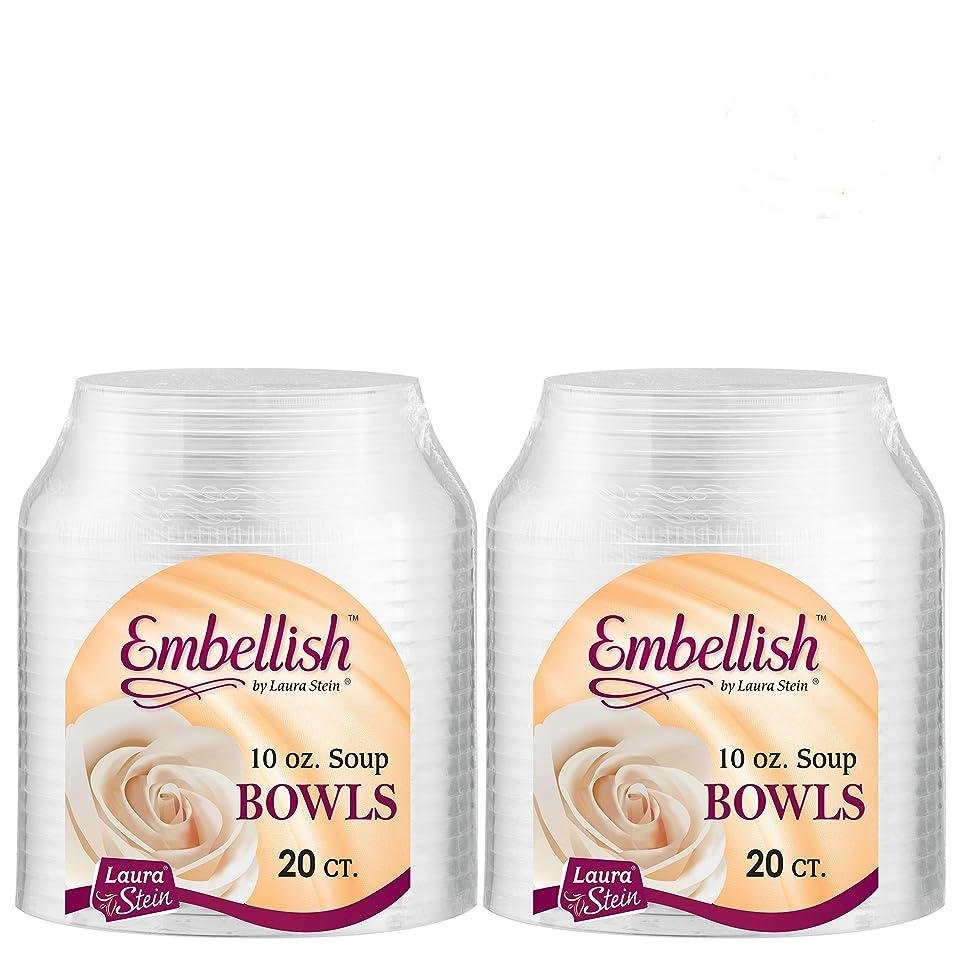 Embellish Elegant Clear Hard Plastic 10 oz Soup Bowls 2 Packs (40 Bowls)