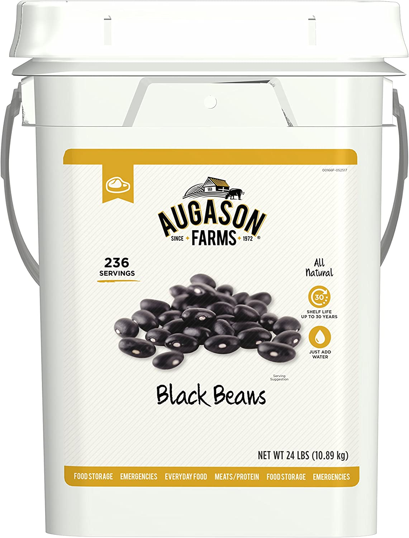 Augason Farms Black Beans Emergency Bulk Food Storage