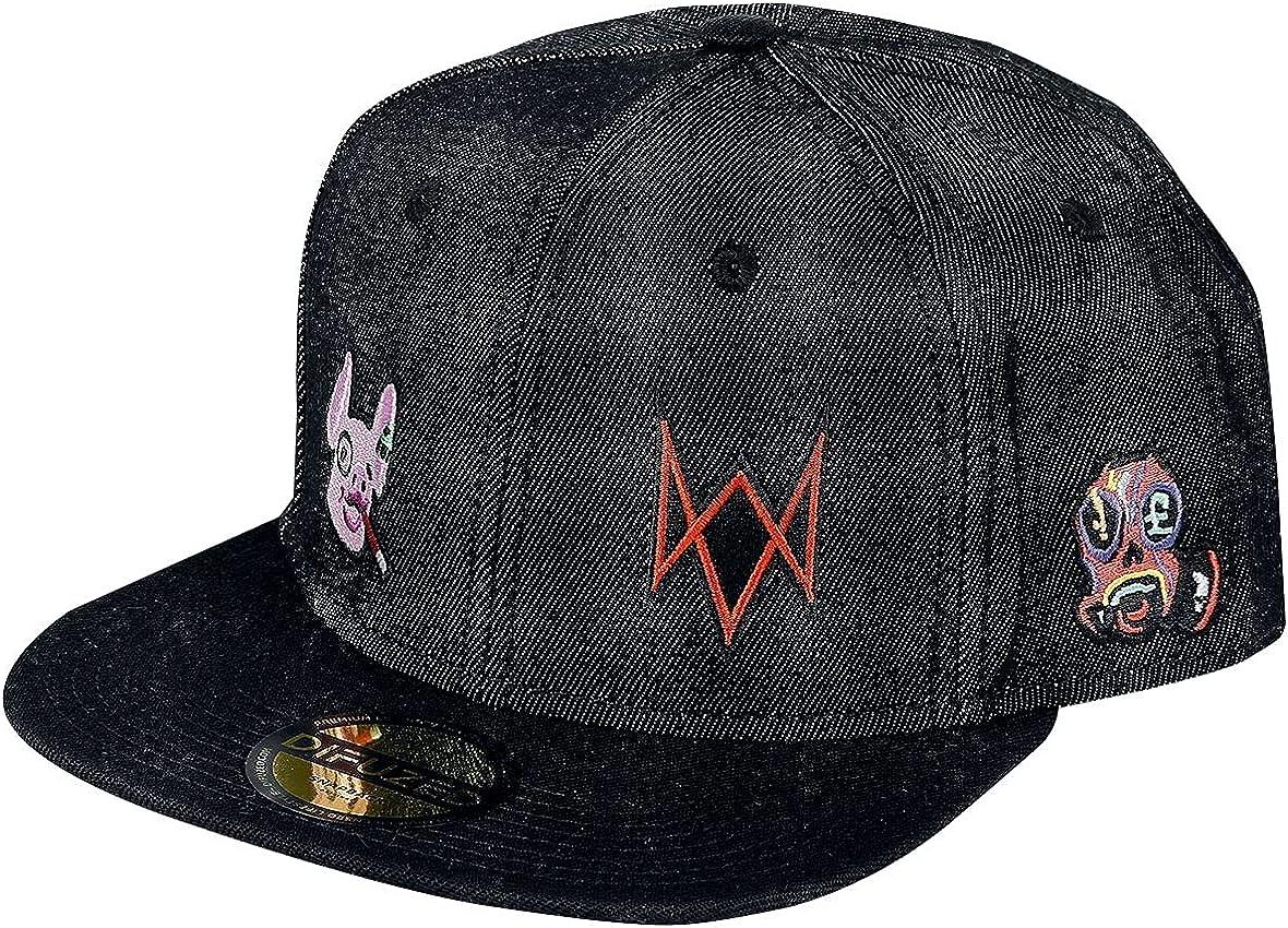 超人気 Watch Dogs Baseball Cap Legion 市場 Logo Denim Snapbac Official Black