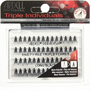 Ardell Triple Knotted Long Individuals Lashes, Black, Long