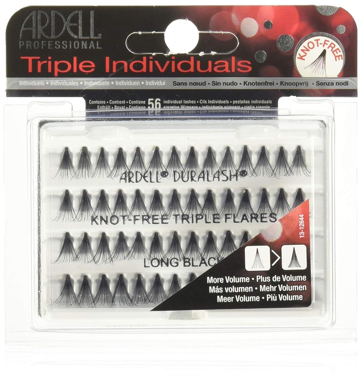 失礼スポーツマン子供時代Ardell Triple Lashes - Knot Free Triple Flares - Long Black