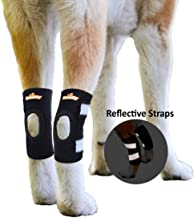 NeoAlly Dog Leg Brace Canine Rear Leg Hock Support with Safety Reflective Straps for Hind Leg Wounds Heal and Injuries and Sprains from Arthritis - 3 Colors (Pair)
