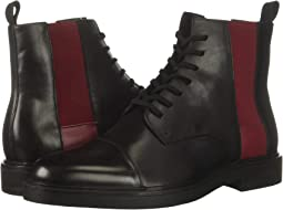 Black/Red Rock Nappa Calf Leather