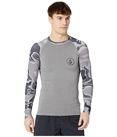 Volcom Lido Solid Long Sleeve Rashguard (Grey) Men