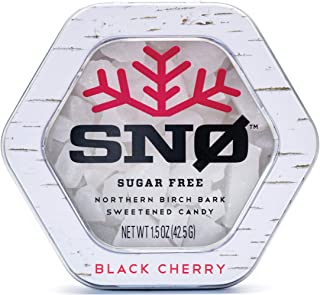 (NEW LOOK) Black Cherry Xylitol Candy Chips - SNØ 1.5oz Tin - Handcrafted w/ ONLY 2 Ingredients | Diabetic-friendly, Non-G...