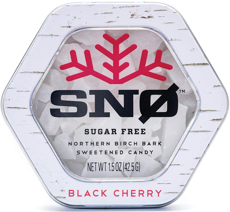 Black Cherry Online limited product Las Vegas Mall KETO Xylitol Candy Chips Tin 1.5oz - Sugar-Fr SNØ