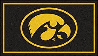 FANMATS NCAA Iowa Hawkeyes 3 Ft. x 5 Ft. Area RUG3 Ft. x 5 Ft. Area Rug, Black, 3' x 5' (19771)