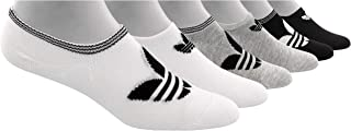 adidas Originals, adidas Women's Originals Trefoil Super No Show Socks (6-Pack), white/light heather grey/black, 5-10