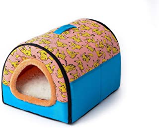 Old street Warm Dog House Comfortable Print Stars Kennel Mat for Pet Puppy Foldable Cat Sleeping Bed