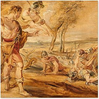 Peter Paul Rubens Cadmus Sådd Drakar Tänder Stor Väggkonst Poster Tryck Tjockt papper 60 x 60 cm