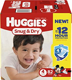 Huggies Snug and Dry Diapers - Size 4-82 ct