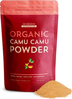 SB Organics Camu Camu Powder Organic - 8 oz Bag of Non-GMO Kosher Freeze-Dried Camu Camu Berry Pulp Powder from Brazil - N...