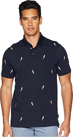 Ted Baker Scraffy Short Sleeve Cockatoo Embroidered Polo