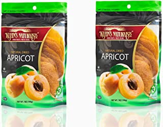 Klein's Naturals Kosher Dried Apricots Discs – Dehydrated Fruit– Dried Apricots, Gluten Free, 7 Oz. (2 Pack)