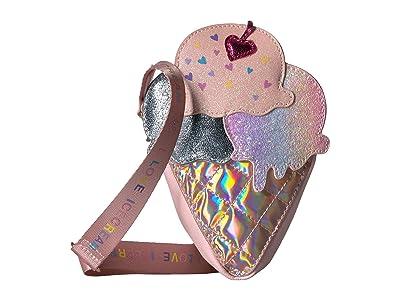 OMG! Accessories Hologram Ice Cream Crossbody (Pink) Cross Body Handbags