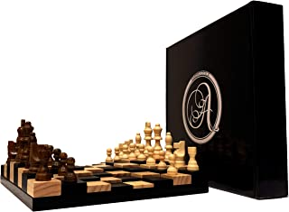 AMBRIZZOLA Scala Wooden Chess Gift Set (3D Chessboard with 3