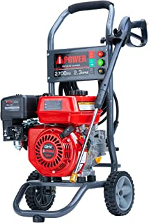 A-iPower APW2700C Gas Powered Pressure Washer 2700 PSI and 2.3 GPM 7HP with 3 Nozzle Attachments, CARB Compliant, Red