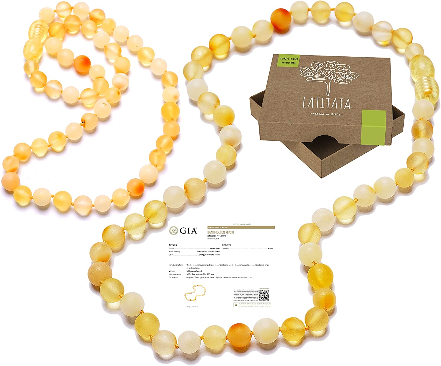 RAW Baltic Great Branded goods interest Amber Necklace Unpolished - Beads