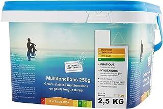 EDENEA Chlore Piscine Multi Fonctions Longue Durée - Seau 2,5 kg - Galets 250g sous Sachet Individuel Hydrosoluble - sans ...