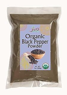Jiva Organics Black Pepper Powder Ground (Table Grind) 7 Ounce