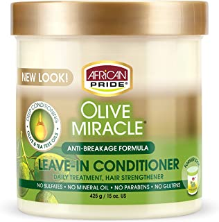African Pride Olive Miracle Leave-In Conditioner Cream (Pack of 1)