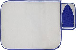 Nappe Rectangulaire de Repassage avec Repose-Fer en Silicone et Tissu de Protection, Tapis de Repassage de Voyage, 71x 50cm