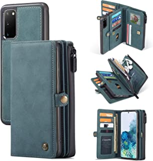Mdkrz Galaxy S20 Ultra Wallet Case,Multi-Functional PU Leather Purse Flip Cover Zip Wallet Case [17-Slots] ID&Credit Cards...