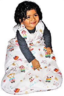 Baby Sleeping Bag Unisex, 2.5 Tog Winter Sleep Sack | Warm | 100% Cotton Lining Exterior & Interior | 100% Polyester Filling (18-36 Months)