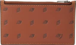 Zip Card Case in Dot Diamond Leather