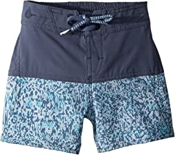 Vibes Elastic Boardshorts (Toddler/Little Kids)