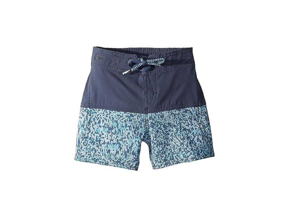 Volcom Kids Vibes Elastic Boardshorts (Toddler/Little Kids) (Deep Blue) Boy